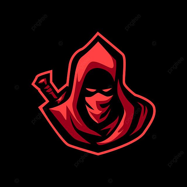 Red Hoodie Assassin Esports Mascot Logo