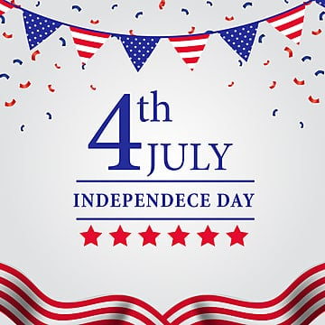 4th july american independence day flyer template with flag, Celebration, July, Usa PNG and Vector