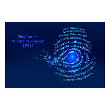 abstract  digital fingerprint with points and shapes in, Wireframe, Digital, Data PNG and Vector