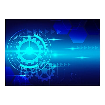 abstract digital technology with blue tech background vector des, Background, Future, Vector PNG and Vector