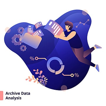 Illustration Archive Data Analysis, Design, Flat, Technology Cloud PNG and Vector