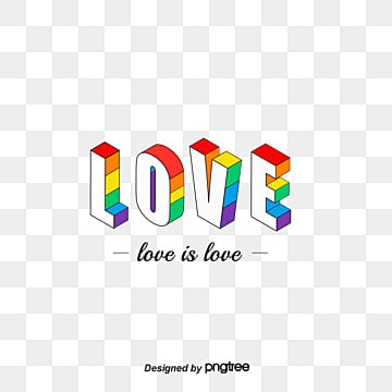 Pride 25D Rainbow Font, 3d, Love, Homosexual PNG and Vector