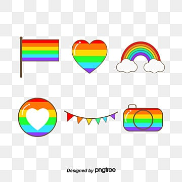 Pride Festival Rainbow Composite Icon Elements, Homosexual, Color, Color Elements PNG and Vector