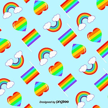 Pride Moon Rainbow Composite Element Background, Element, Homosexual, Color Flag PNG and Vector