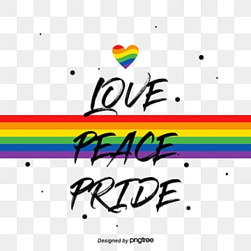 Pride Moon Rainbow Creative Hand-painted Font, Lgbt, Creative, Ink Dot PNG and Vector