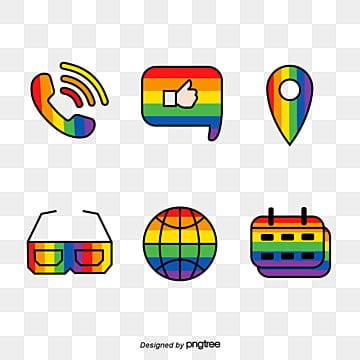 Pride Moon Rainbow Creative Icon Combination, Lgbt, Creative, Icon PNG and Vector