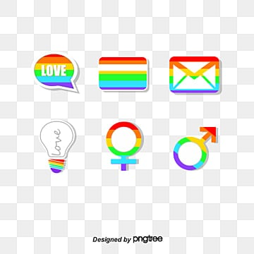 pride moon rainbow icon composition elements, Element, Icon, Color PNG and Vector