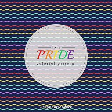 Rainbow Pride Moon Wave Line Background, Lgbt, Pride, Homosexual PNG and Vector