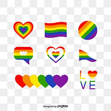 Rainbow Set Background of Pride Festival, Creative, Rainbow, Rainbow Flag PNG and Vector