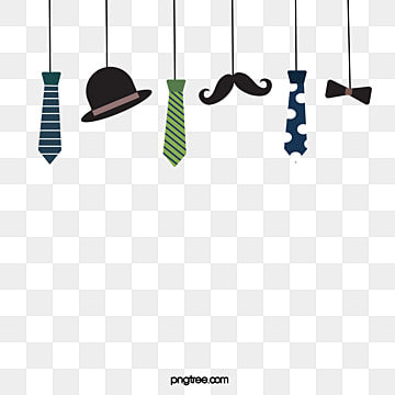 simple hand painted fathers day hanging elements, Cartoon, Hanging Element, Hat PNG and Vector