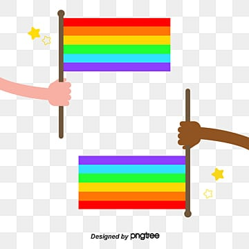 The proud moon holds the rainbow banner, Character, Color Flag, Rainbow PNG and Vector