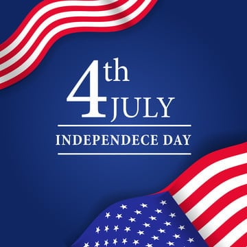 4th july american independence day with america flag, Usa, American, America PNG and Vector