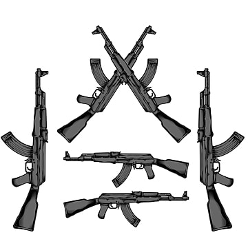 Ak 47 PNG Images | Vector and PSD Files | Free Download on