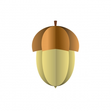 vector acorn of paper on white background, Art, Polygon, Seed PNG and Vector