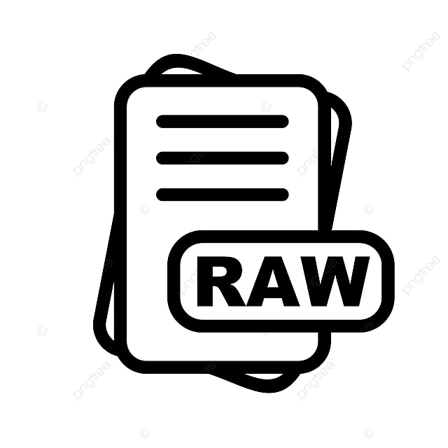 Raw File Format Icon Design, Raw File Format Icon, File, Format PNG
