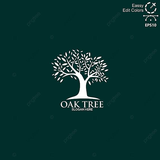 Simple And Modern Vector Oaks Tree Logo, Tree, Oak, Logo PNG
