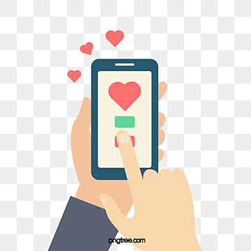 hand painted mobile phone content love ins point praise, Ins Point Praise, Cartoon, Mobile Content PNG and Vector