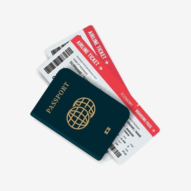 Tiket Penerbangan Dan Pasport Pasport Dengan Boarding Pass Tiket
