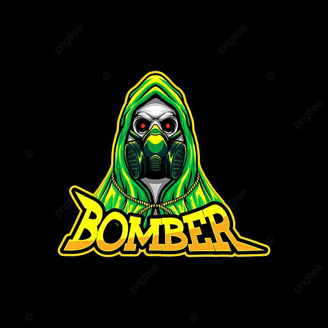 Bomber Skull Esport Gaming Mascot Logo Template, Gaming