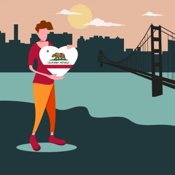 California love. Png vector psd and