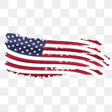 American Flag with American independence day 4th july, 4th, Abstract, America PNG and Vector