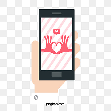 Compliment Cartoon Mobile Phone, Cartoon Style, Lovely, Girl PNG and Vector