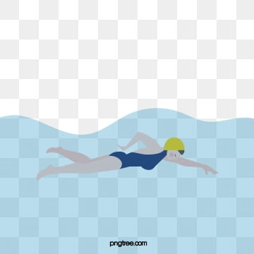 creative hand painted summer womens swimming, Cartoon, Summer Activities, Summer Sports PNG and Vector