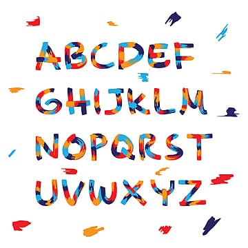 display colorful font and alphabet Fonts