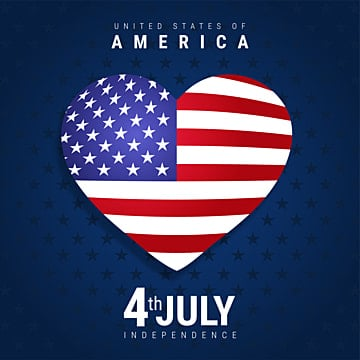 heart symbol with america flag   with american independence day 4th july, 4th, Abstract, America PNG and Vector