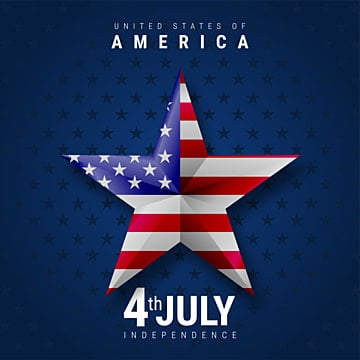 Star symbol with america flag   with American independence day 4th july, 4th, Abstract, America PNG and Vector
