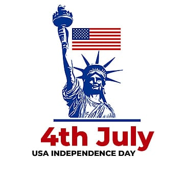usa independence day with vector statue of liberty, Usa 4th July, Usa Independence Day, Usa Flag PNG and Vector