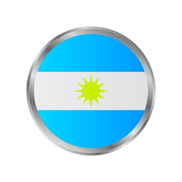 Argentine Flag Sun Argentinian Gold Png And Vector With