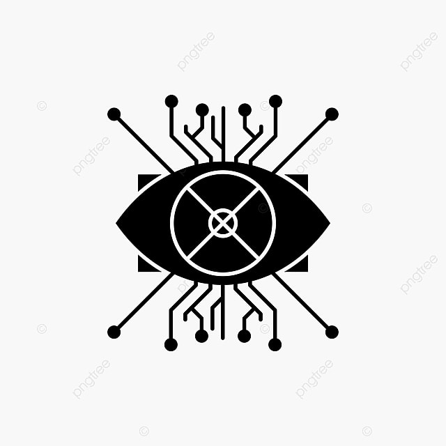 Ar,augmentation,cyber,eye,lens Glyph Icon Vector Isolated I, 3d