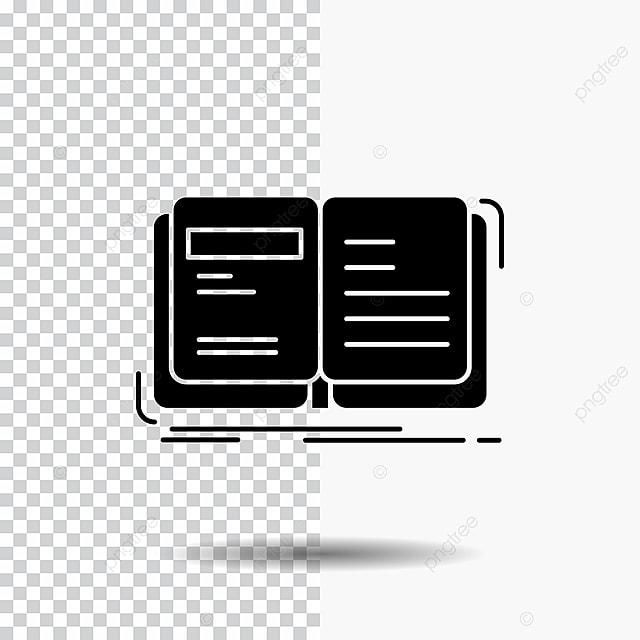 Auteur Livre Ouvert Histoire Transparen Conte Glyphe Icone