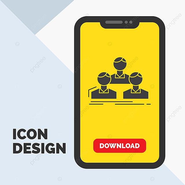 perusahaan karyawan grup orang ikon glyph tim di ponsel untuk ikon ponsel dalam ikon bos png dan vektor dengan latar belakang transparan untuk unduh gratis pngtree