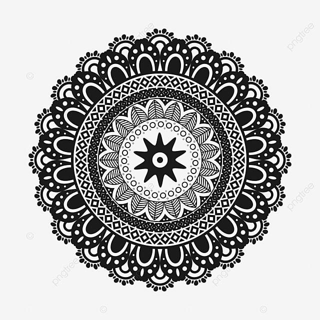 Decorative Mandala Design With Transparent Background