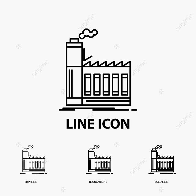 Factory Industrial Industry Manufacturing Production Icon In