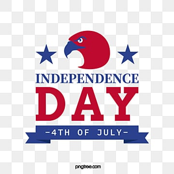 American Eagle Independence Day Banner Art Words, National Flag, Celebrating, Happy PNG and Vector