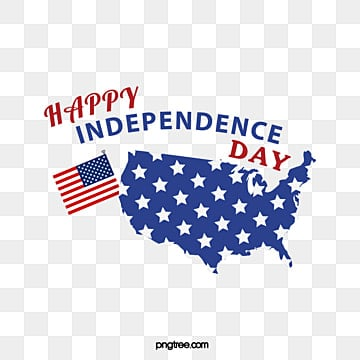 American Maps Celebrate Independence Day Art Words, July 4th, National Flag, Map PNG and Vector