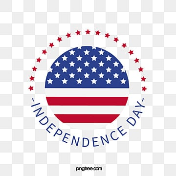 Artistic Words of Independence Day of the Round American Flag Star, National Flag, Circular, Happy PNG and Vector