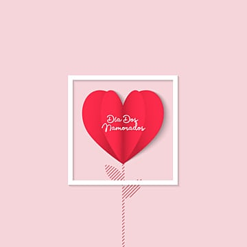 Dia dos Namorados greeting card Flower heart, Heart, Frame, Vector PNG and Vector