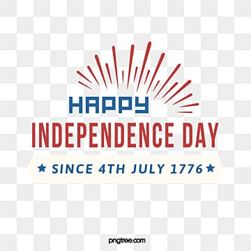 Simple July 4th Happy American Independence Day Art Words, July 4th, Happy, Celebrate PNG and Vector