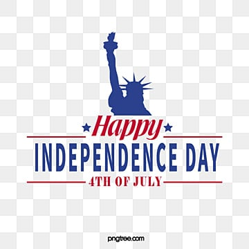 Statue of Liberty Simple and Happy American Independence Day Artistic Words Fonts