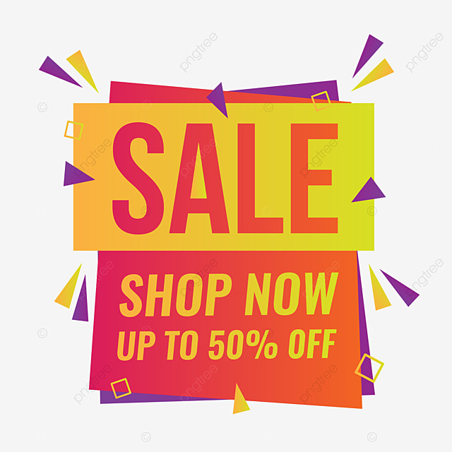 Special Offer Sale Discount Tag Label With Geometric Shapes