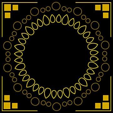 การออกแบบกรอบทองพร้อมการตกแต่งที่หรูหรา, ทอง, กรอบ, การออกแบบ รูปภาพวัสดุPNG และ เวกเตอร์