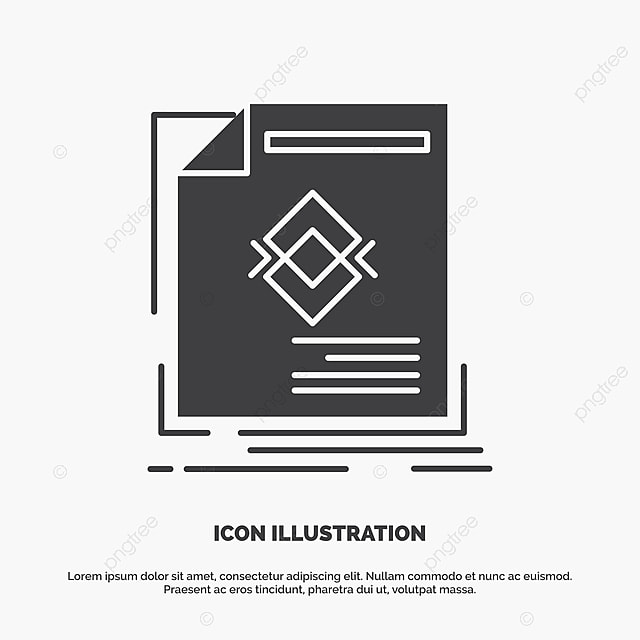 Ad Advertisement Leaflet Magazine Page Icon Glyph Vector Gr