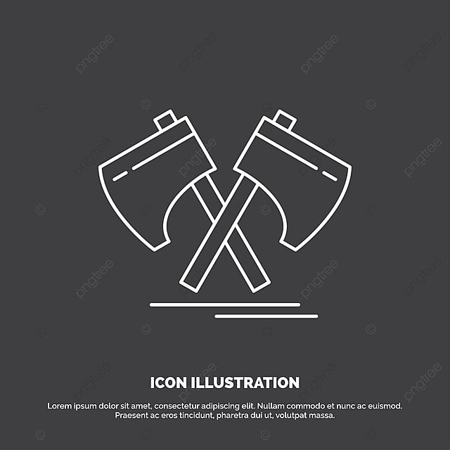 aff84296f17c2 Axe,hatchet,tool,cutter,viking Icon Line Vector Symbol For, Ancient ...