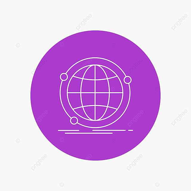 Data Global Internet Network Web White Line Icon In Circle B Line Icons Circle Icons White Icons Png And Vector With Transparent Background For Free Download
