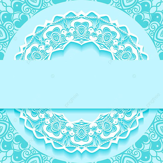Wedding Invitation Card Paper Cut Design Mandala Border