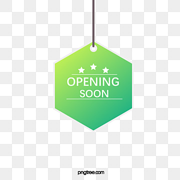hand painted hanging grand opening label, Practice, Opening Label, Suspension Tag PNG and Vector